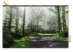 Carry-all Pouch featuring the photograph Sun Burning Through The Fog by Katie Wing Vigil