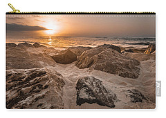 Sun Coming Over The Rocks  Carry-all Pouch