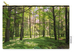 Carry-all Pouch featuring the photograph Sun Dappled Forest by John M Bailey