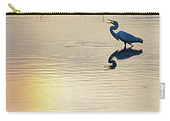 Sun Dog And Egret 1 Carry-all Pouch