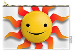 Carry-all Pouch featuring the digital art Sun Face No Background by John Wills