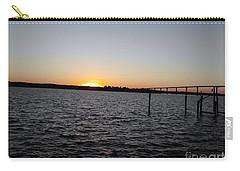Sun Going Down Near Gov Thomas Johnson Bridge Carry-all Pouch