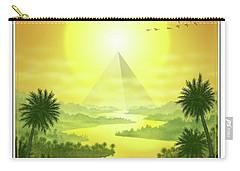 Carry-all Pouch featuring the digital art Sun King by Scott Ross