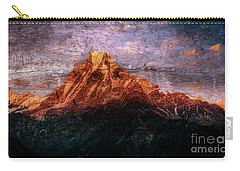 Sun Kissing The Mountain Tops Carry-all Pouch