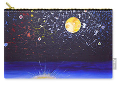 Carry-all Pouch featuring the painting Sun Moon And Stars by Donna Blossom