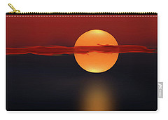 Sun On Red And Blue Carry-all Pouch