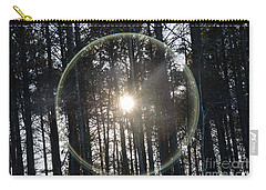 Sun Or Lens Flare In Between The Woods -georgia Carry-all Pouch