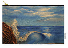Carry-all Pouch featuring the mixed media Sun Over The Ocean by Angela Stout