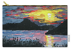 Sun Over The Water Carry-all Pouch by R Kyllo