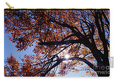 Carry-all Pouch featuring the photograph Sun Peaking Threw by Debra Crank