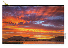 Sun Rays At Sunset Carry-all Pouch