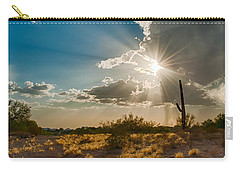 Carry-all Pouch featuring the photograph Sun Rays In Tucson by Dan McManus