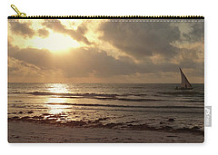 Sun Rays On The Water With Wooden Dhow Carry-all Pouch