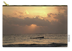 Sun Rays On The Water With Wooden Dhows Carry-all Pouch