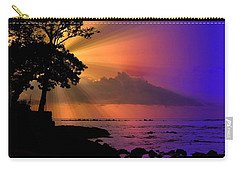 Carry-all Pouch featuring the photograph Sun Rays Sunset by Lori Seaman