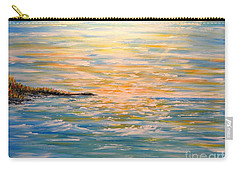 Carry-all Pouch featuring the painting Sun Rise Sun Set by Greg Moores