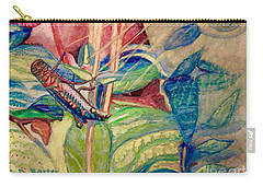 Sun Salutations To A Grasshopper  Carry-all Pouch