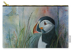 Sun Set Puffin Carry-all Pouch