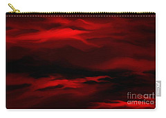 Sun Sets In Red Carry-all Pouch by Rushan Ruzaick