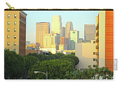 Sun Sets On Downtown Los Angeles Buildings #1 Carry-all Pouch