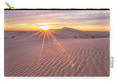 Carry-all Pouch featuring the photograph Sun Setting At The Dunes by Patricia Davidson