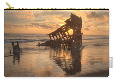 Sun Setting Behind Peter Iredale 0089 Carry-all Pouch