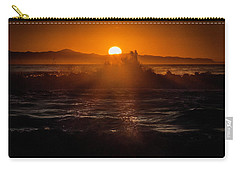 Sun Setting Behind Santa Cruz Island Carry-all Pouch