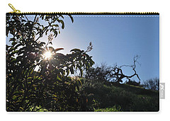 Carry-all Pouch featuring the photograph Sun Shines Through The Greenery by Matt Harang