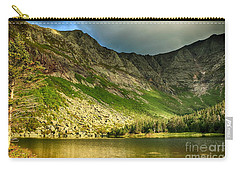 Sun Shining On Chimney Pond  Carry-all Pouch by Elizabeth Dow