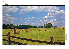 Carry-all Pouch featuring the photograph Sun Shone Hay Made by Byron Varvarigos