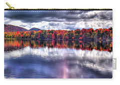 Carry-all Pouch featuring the photograph Sun Streaks On West Lake by David Patterson