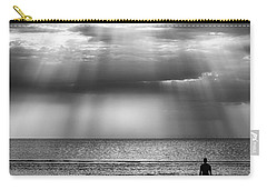 Sun Through The Clouds Bw 11x14 Carry-all Pouch