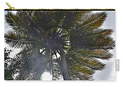 Carry-all Pouch featuring the photograph Sun Through The Palm by Gary Smith