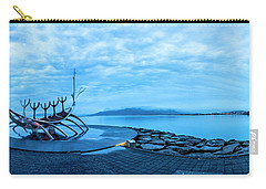 Sun Voyager Viking Ship In Iceland Carry-all Pouch by Joe Belanger