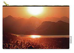 Carry-all Pouch featuring the photograph Sun Worshipers by Christopher McKenzie