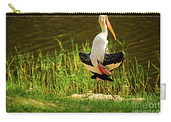 Sunbathing Delta-winged Painted Stork  Carry-all Pouch