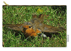 Sunbathing Robin Carry-all Pouch