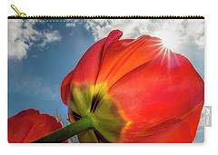 Carry-all Pouch featuring the photograph Sunbeams And Tulips by Adam Romanowicz