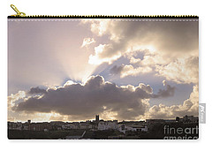 Carry-all Pouch featuring the photograph Sunbeams Over Church In Color by Nicholas Burningham