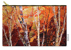 Carry-all Pouch featuring the painting Sunburnt Solstice by Tatiana Iliina