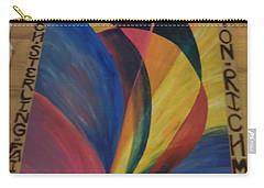Sunburst Floorcloth Carry-all Pouch by Judith Espinoza