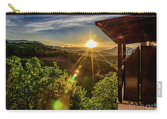Sunburst View From Dellas Boutique Hotel Near Meteora In Kastraki, Kalambaka, Greece Carry-all Pouch