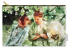Sunday Afternoon By The Lake Carry-all Pouch by Shirley Stalter