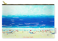Carry-all Pouch featuring the painting Sunday At Bondi by Chris Armytage