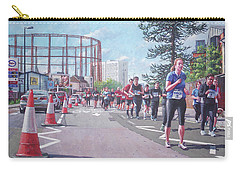 Carry-all Pouch featuring the painting Sunday Morning Abp Marathon. Northam, Southampton  by Martin Davey