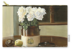 Sunday Morning And Roses - Study Carry-all Pouch by Marlene Book