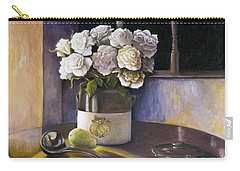 Sunday Morning And Roses Redux Carry-all Pouch by Marlene Book