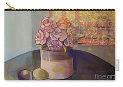 Sunday Morning Roses Through The Looking Glass Carry-all Pouch by Marlene Book