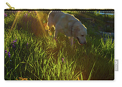 Sundown Flower Dog Carry-all Pouch by Todd Breitling