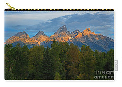 Sundrise On Grand Tetons Carry-all Pouch